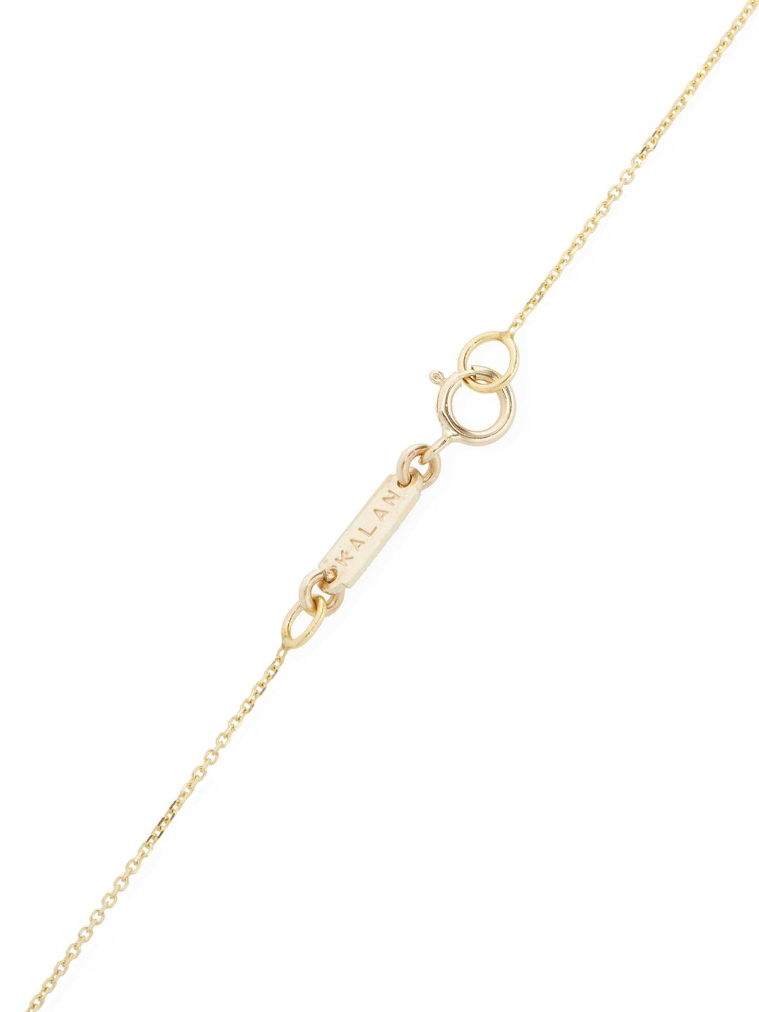 Suzanne Kalan 0.26 Tcw Champagne Diamond & Moonstone 14k Yellow Gold Bezel Pendant Necklace in Metallic