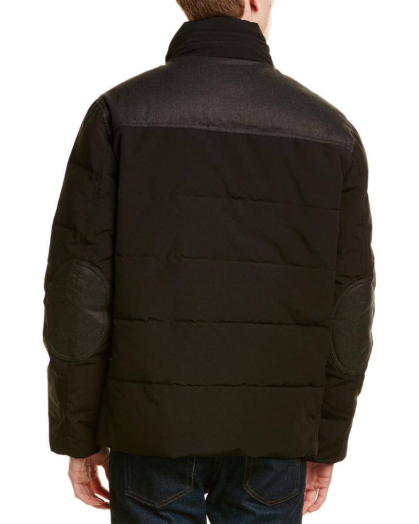 Cole Haan Synthetic Quilted Down Jacket in Black for Men