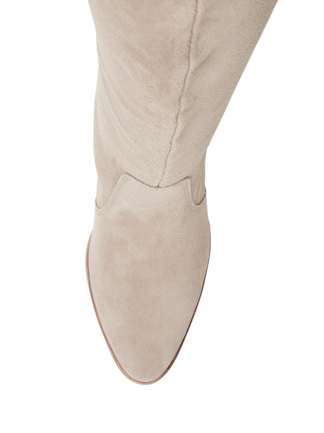 Dolce Vita Leather Cameo High Heel Boot in Taupe (Brown)