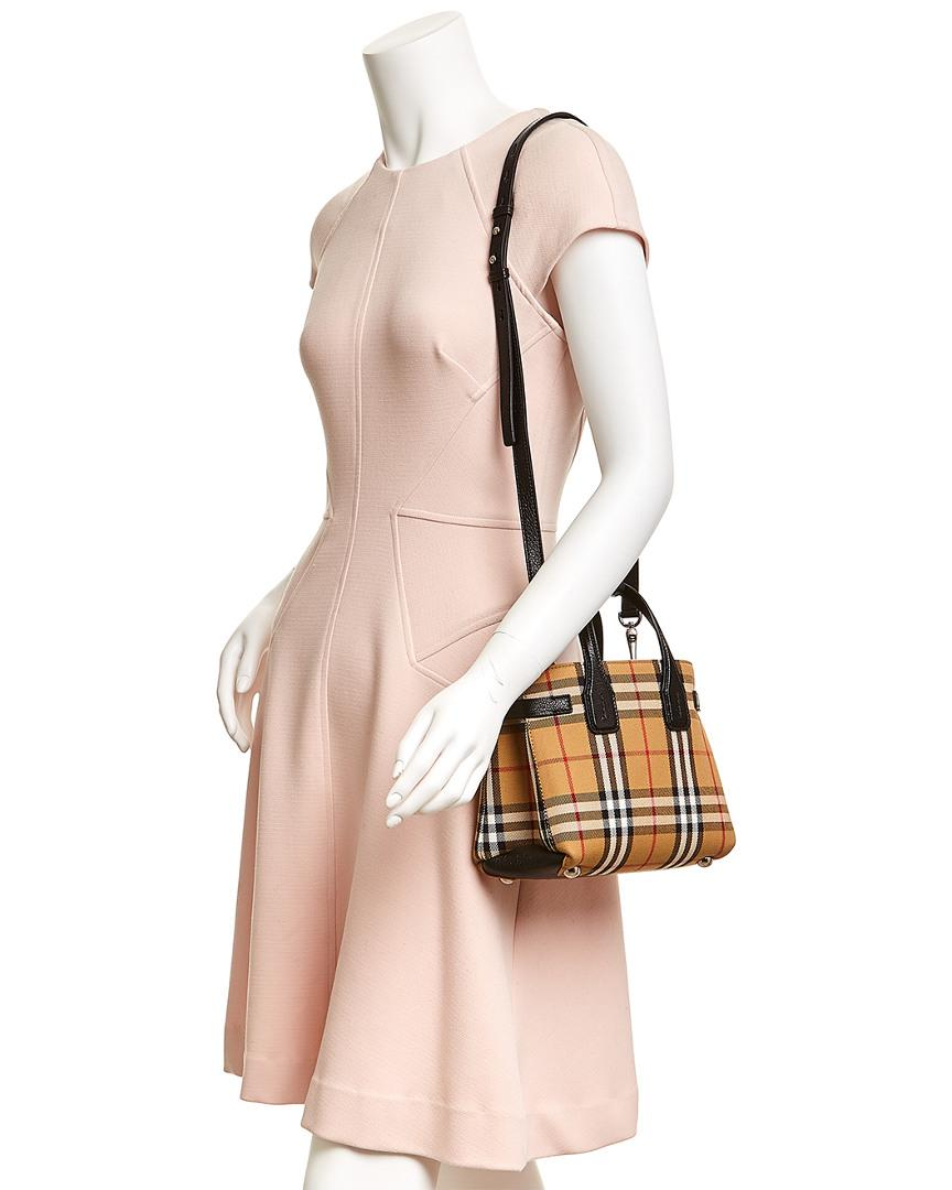 Burberry The Baby Banner In Vintage Check And Leather Lyst