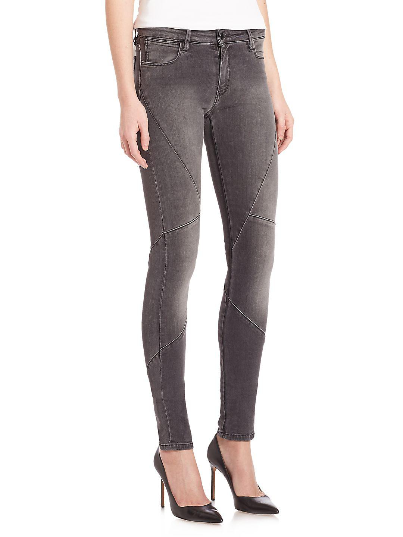 Brockenbow Denim Magda Puzzle Skinny Jeans in Grey