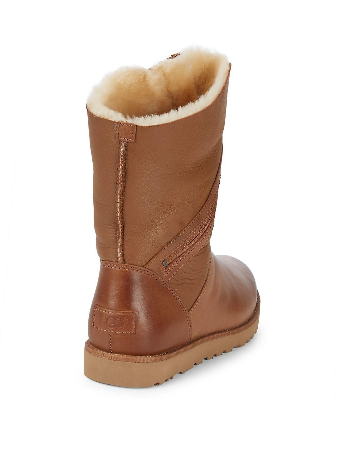 UGG Alba Leather Boots in Chestnut (Brown)