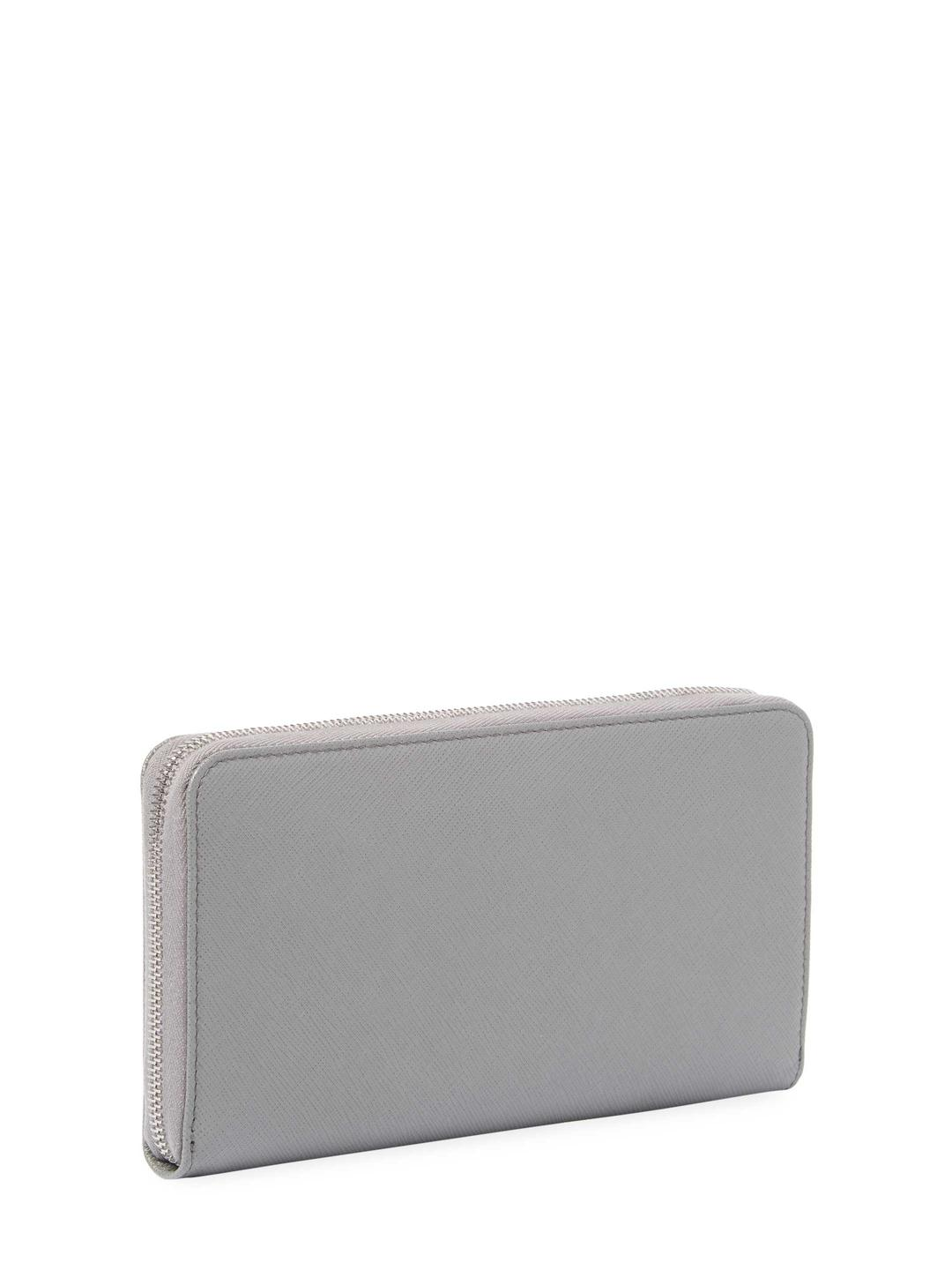 c68367417dcaf5 ... where to buy prada gray saffiano leather zip around wallet lyst. view  fullscreen 2a74b 19a83