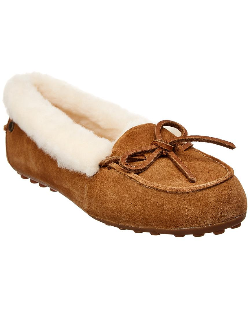 4a2ee329ca7 Lyst - UGG Women s Solana Suede Loafer Slipper in Brown