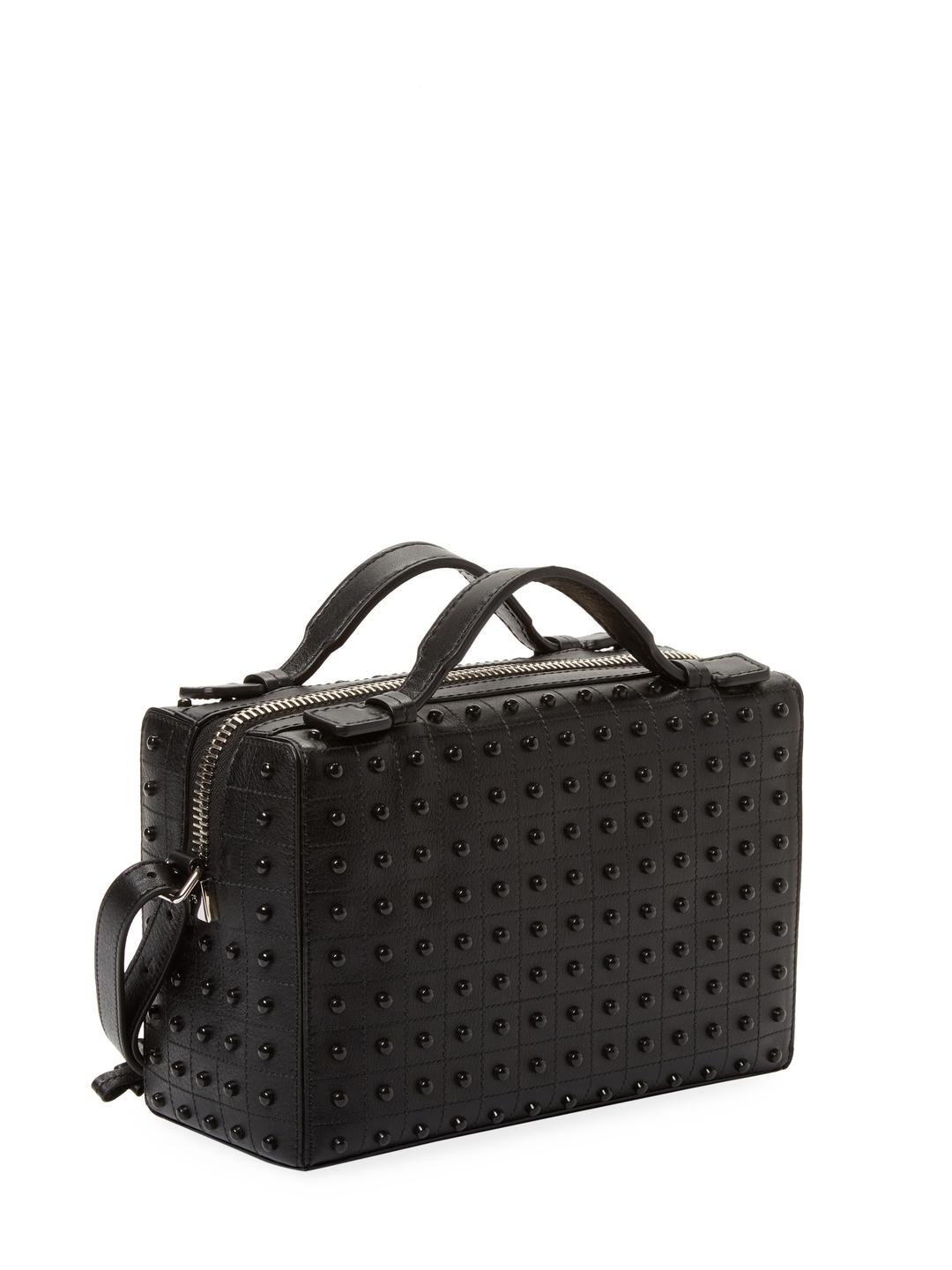 452b66343ebe Lyst - Tod s Gommino Mini Studded Leather Bag in Black