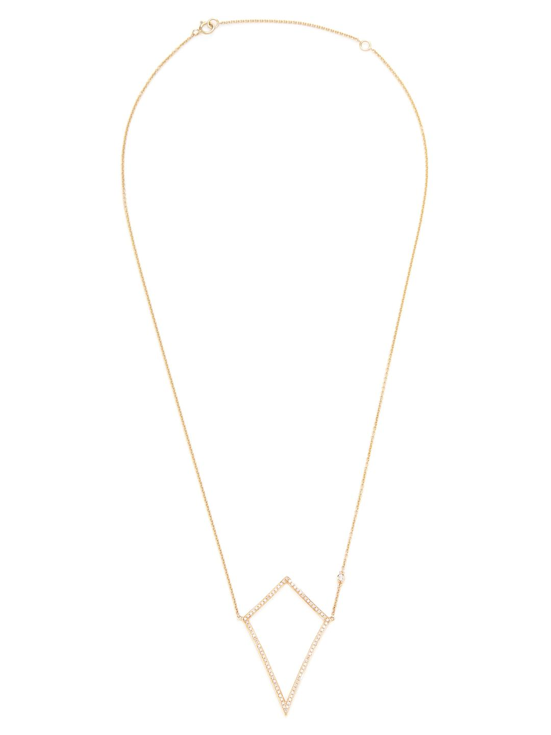 SHAY 14k Yellow Gold & 0.24 Total Ct. Diamond Open Kite Necklace
