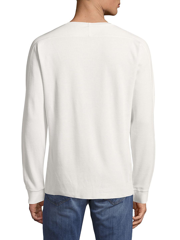 Vince Cotton Plain Crewneck Sweater in Heather Grey (Grey) for Men