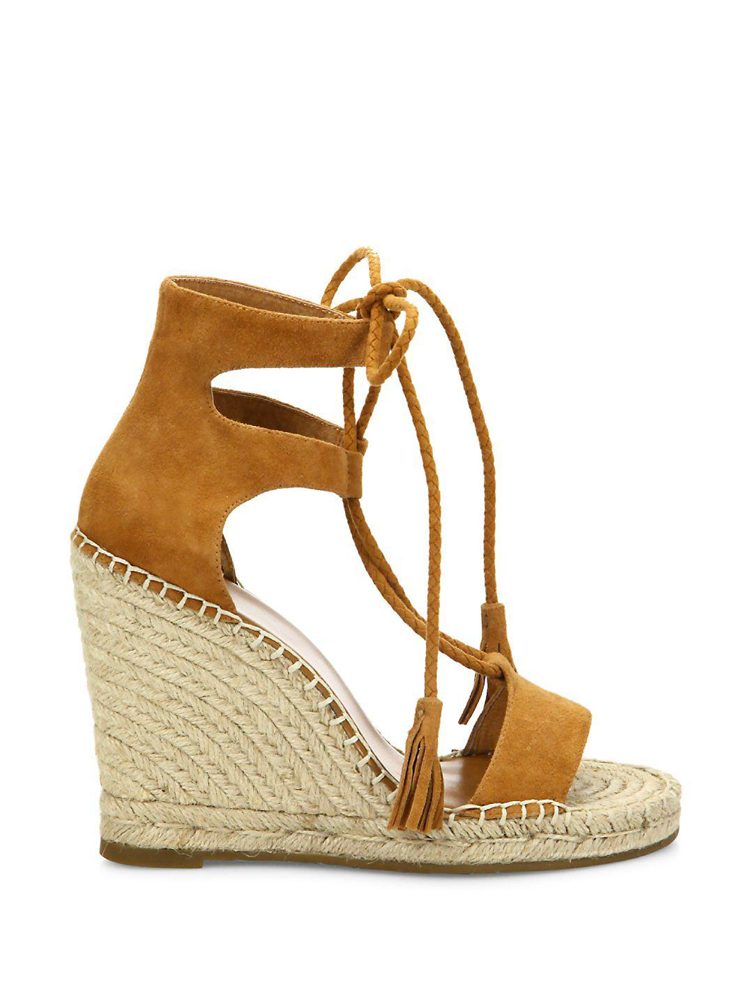 c91e0883583 Lyst - Joie Delilah Lace-up Suede Espadrille Wedge Sandals