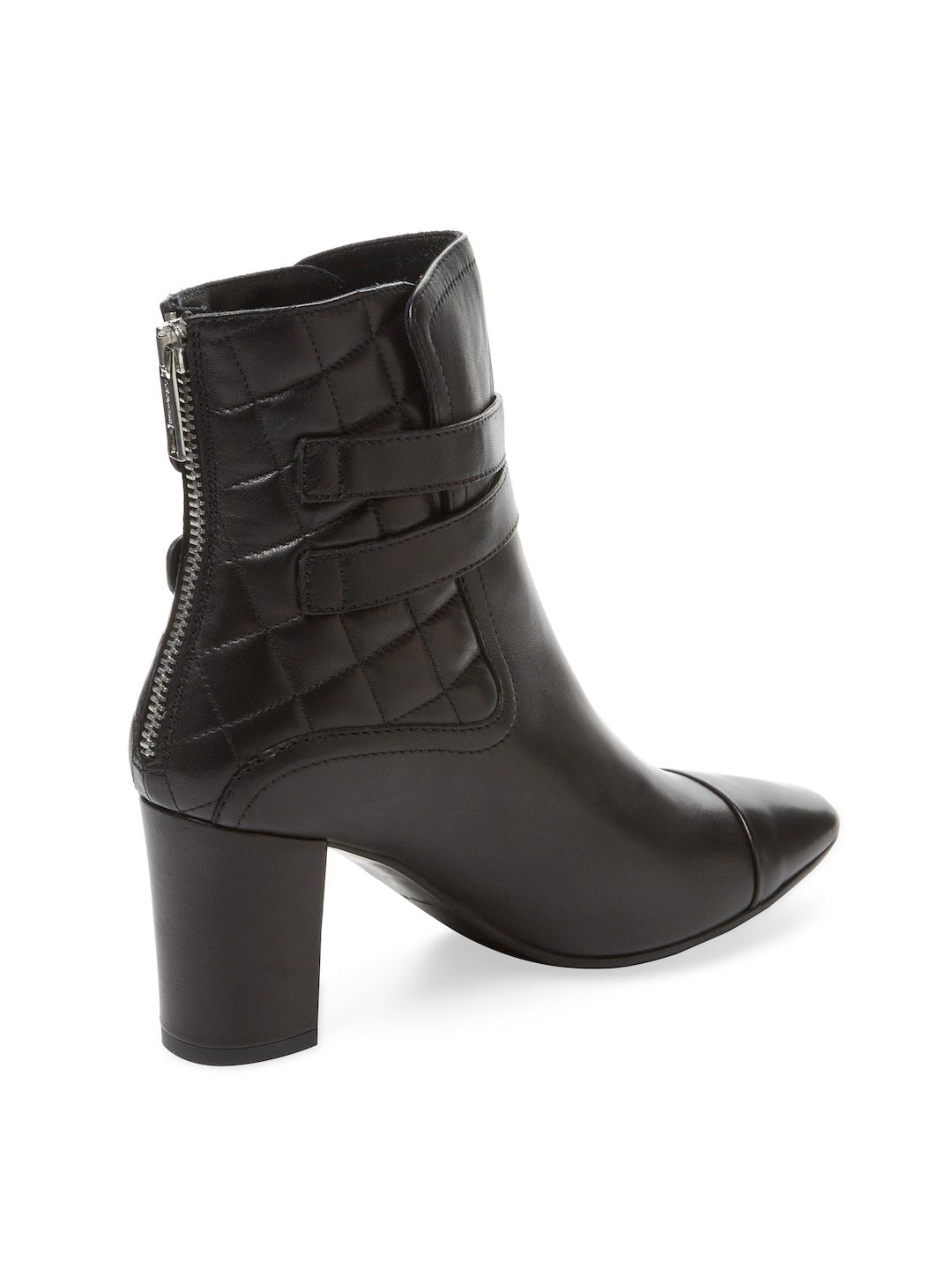 L.K.Bennett Leather Charlize Double Buckle Boot in Black