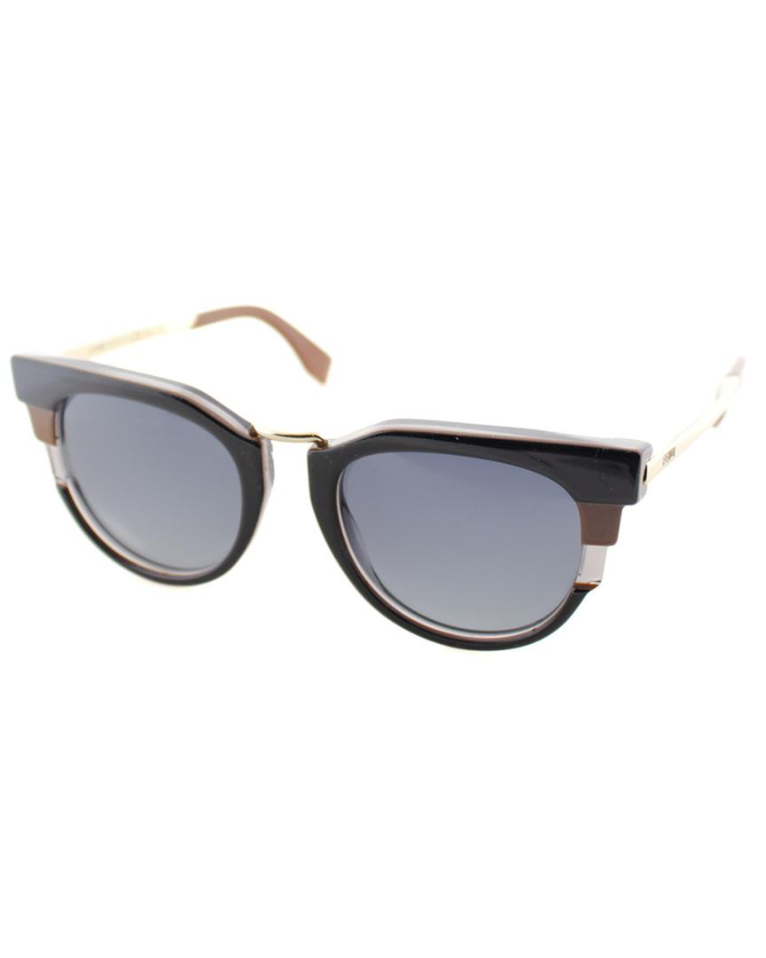 ed99cd69e5a1 Fendi Women s Round 50mm Sunglasses - Lyst