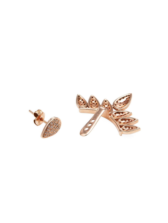 SHAY 14k Rose Gold & 0.38 Total Ct. Pave Diamond Teardrop Earjacket