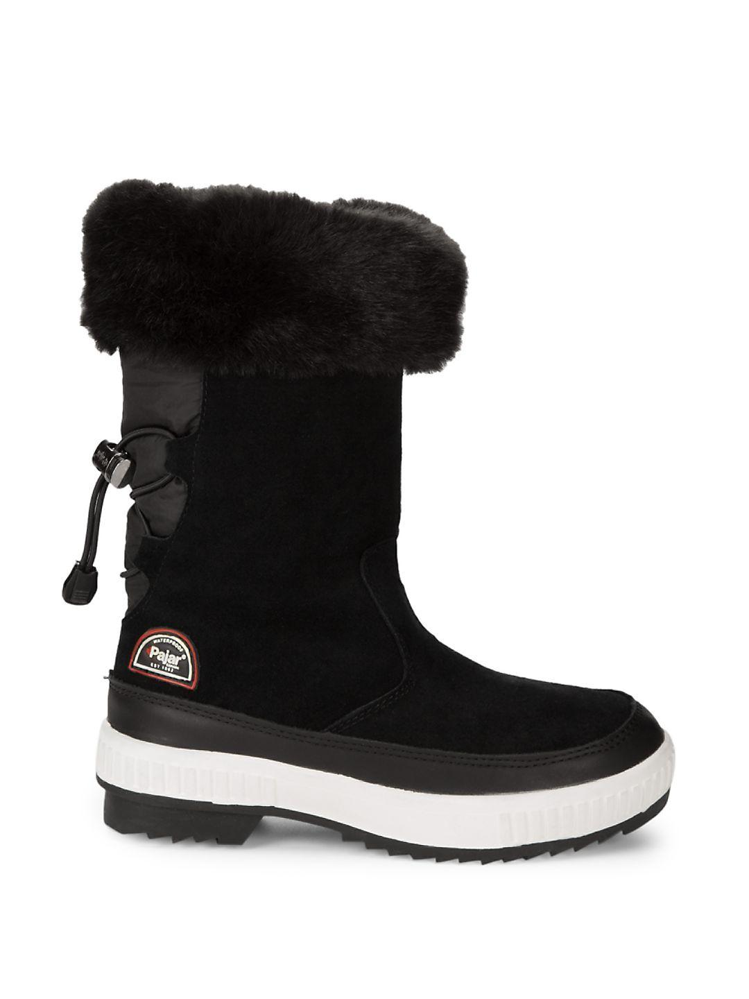 Pajar Barb Faux Fur Boots in Black - Save 54%