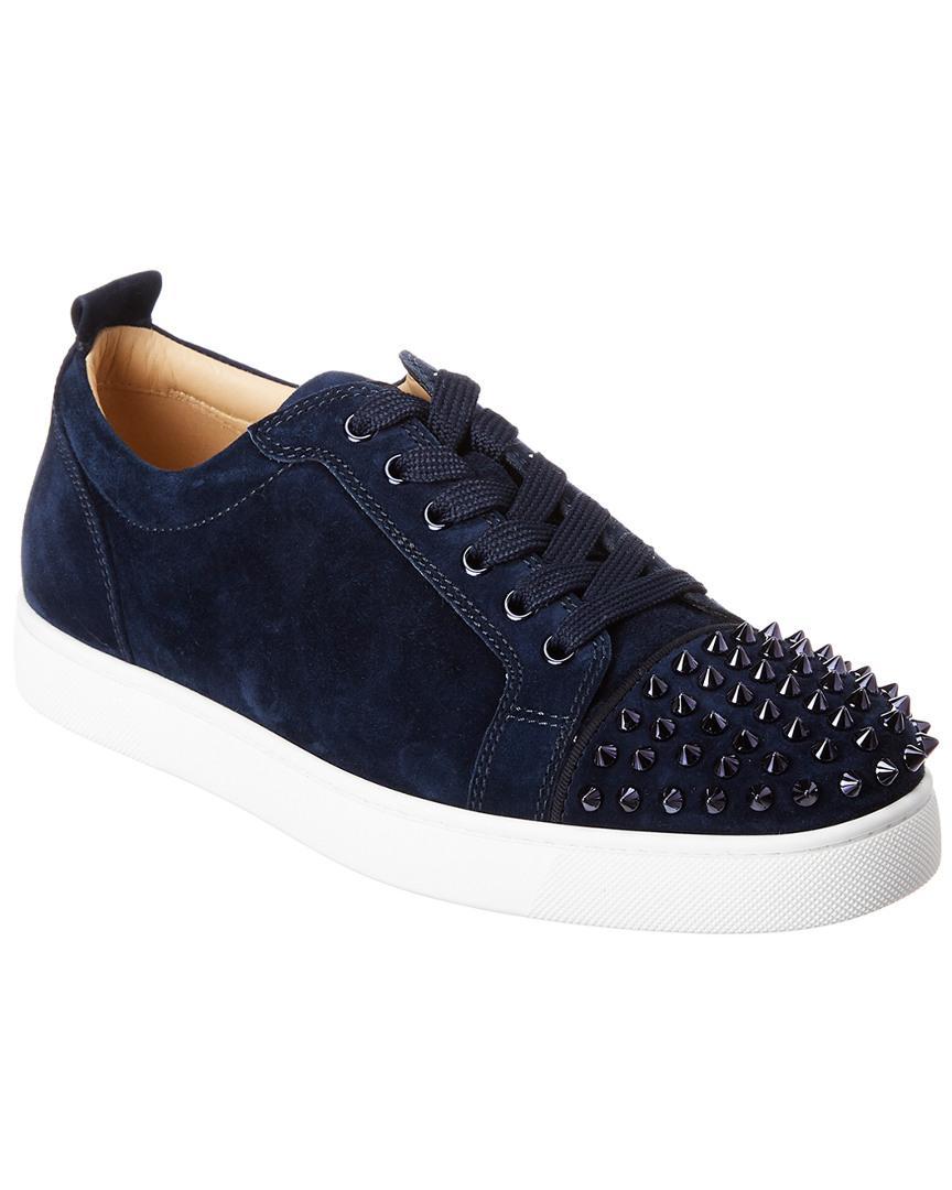 best authentic f5220 e9769 Men's Blue Louis Junior Suede Sneaker