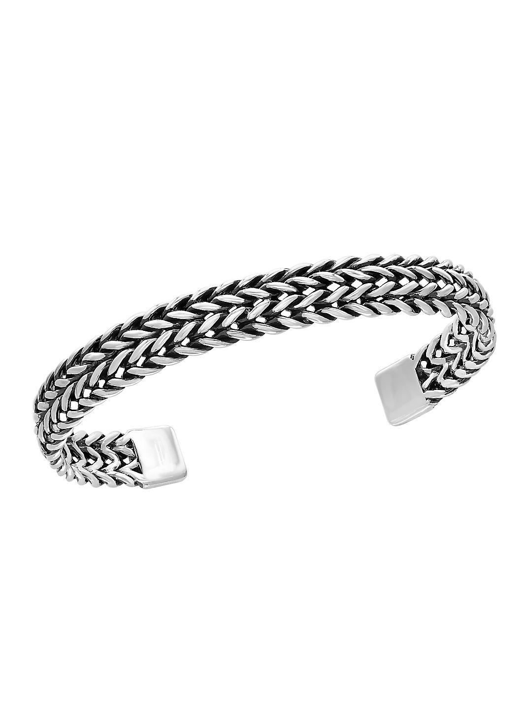 Effy 0.925 Sterling Silver Woven Cuff Bangle in Metallic