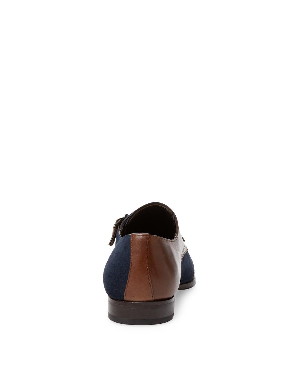 Mezlan Denim Monkstrap in Cognac/Navy (Blue) for Men