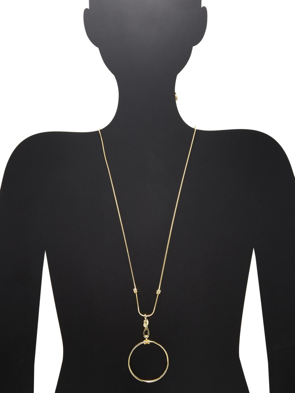 Noir Jewelry Necklace Long Pendant in Gold (Metallic)