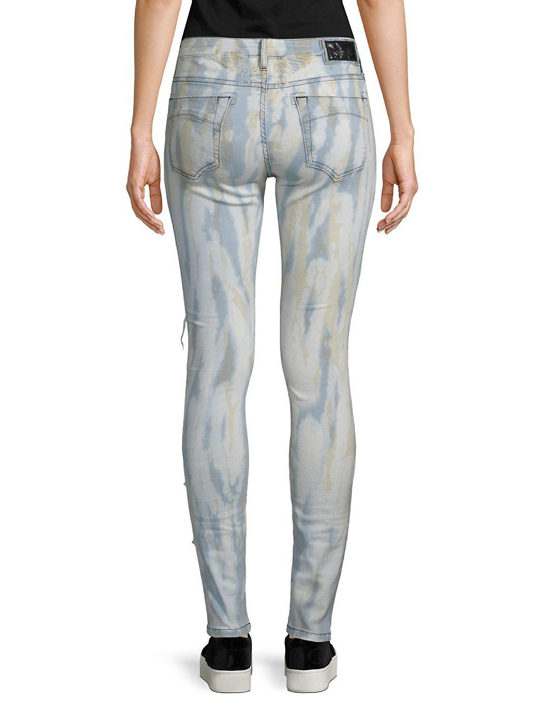 Robin's Jean Denim Florence Distressed Skinny Jeans in Blue