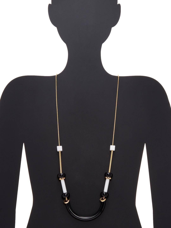 Trina Turk Zodiac Station Necklace in Black