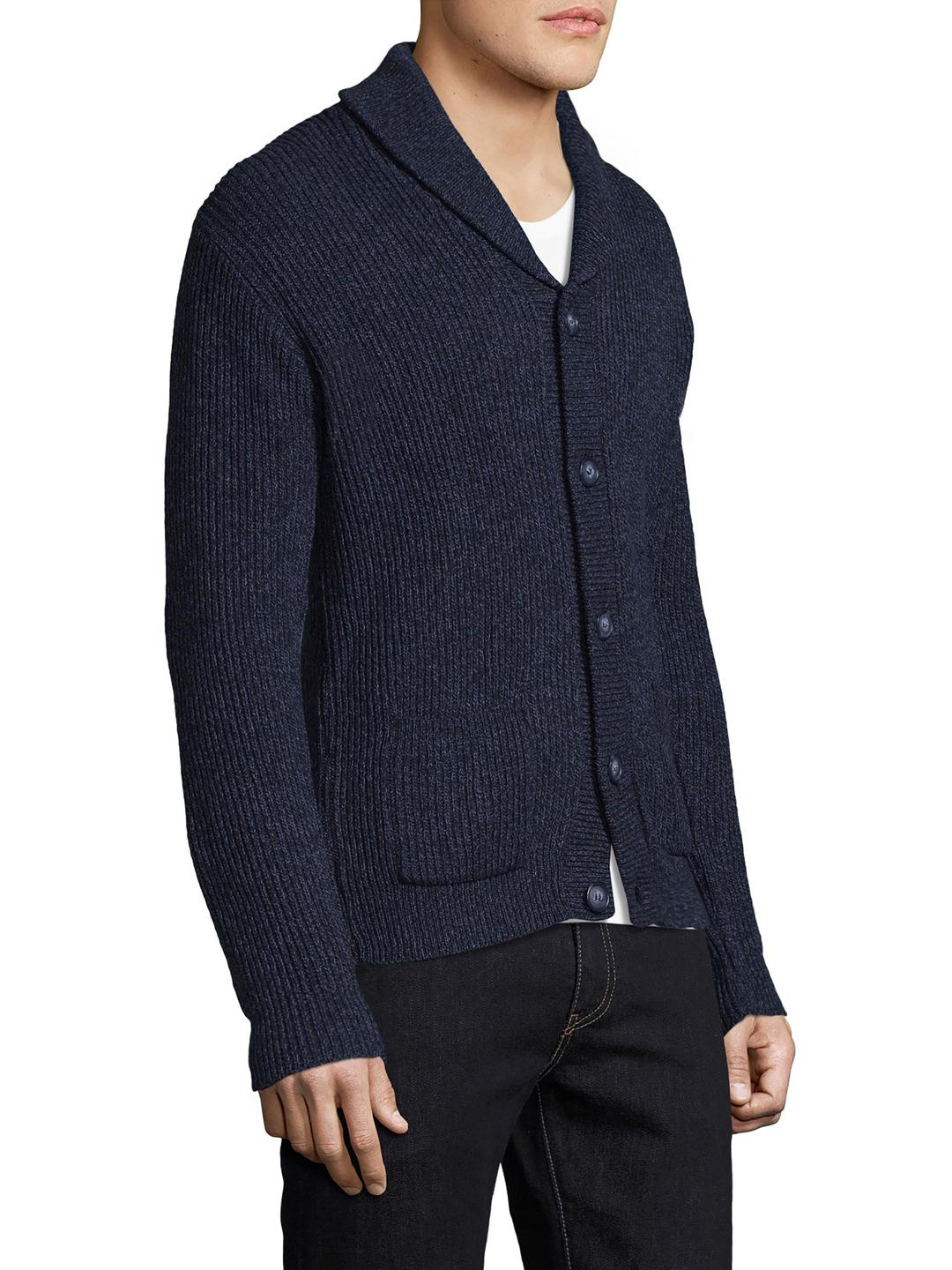 Save khaki Eco Ragg Cardigan in Blue for Men | Lyst