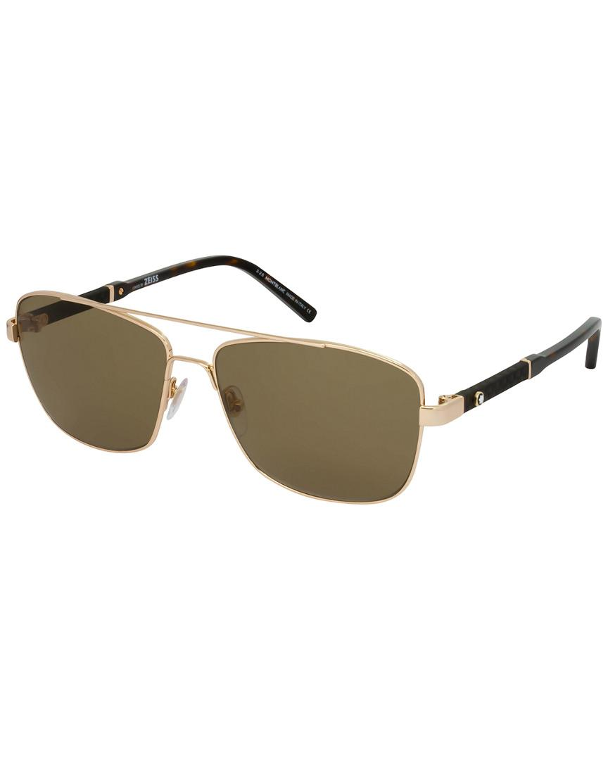 288b7354ad Montblanc Mont Blanc Men s Mb589s 60mm Polarized Sunglasses for Men ...