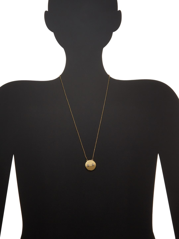 Rachel Zoe Kate Cz Pendant Necklace in Gold (Metallic)