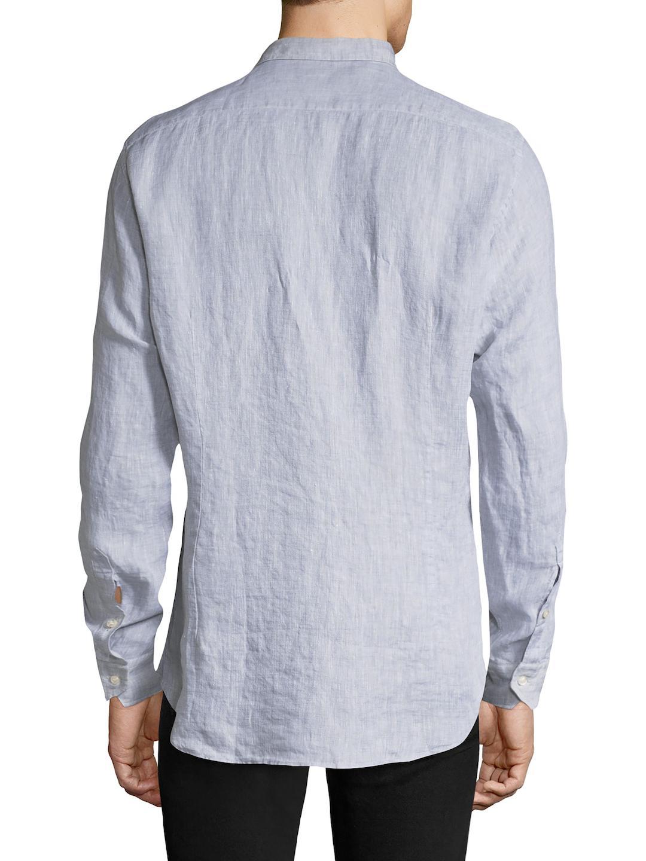Etro Linen Sportshirt in Sky (Blue) for Men