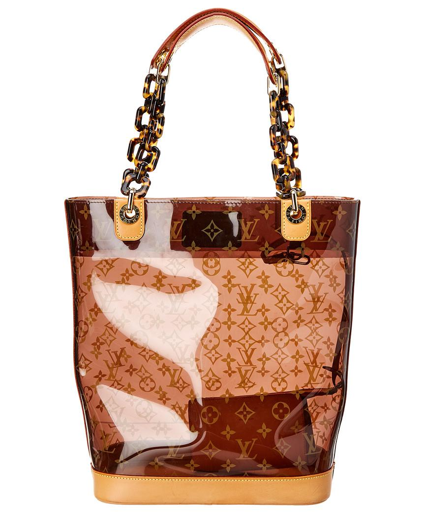 Louis Vuitton Limited Edition Brown Monogram Ambre Cabas Mm in Brown - Lyst f658484ae55b8