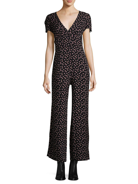 cae72315b5cf Lyst - Free People Mia Printed Jumpsuit in Black