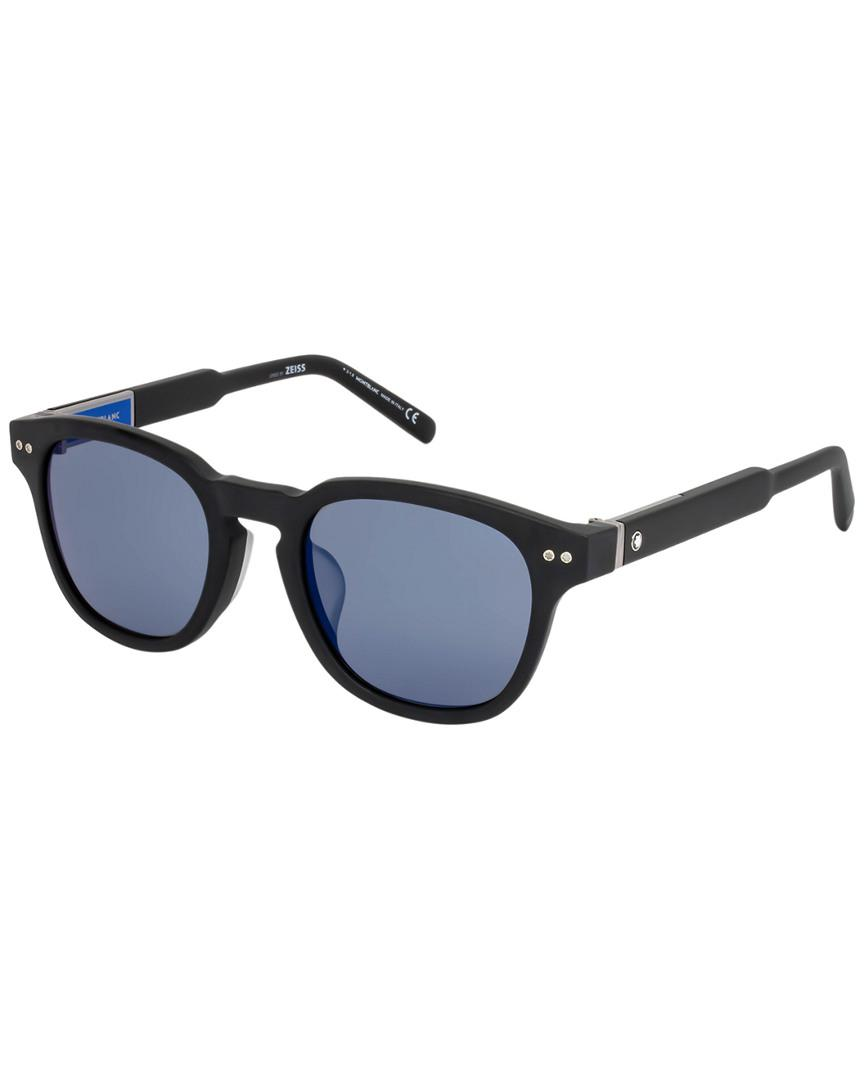 7297096411 Montblanc Mont Blanc Men s Mb693s-f 51mm Sunglasses in Blue for Men - Lyst