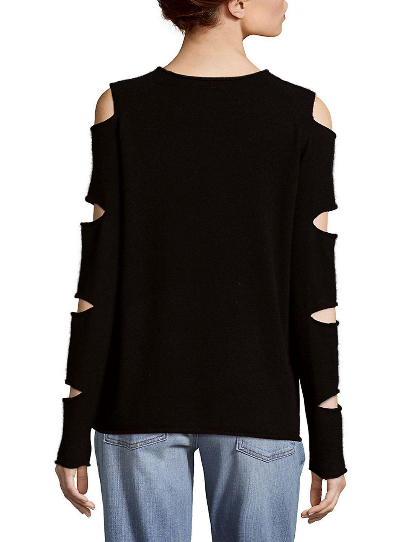 360cashmere Cashmere Slash Top in Black - Save 47%