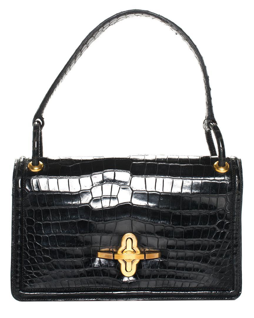 Hermès - Black Crocodile Leather 1960s Bag - Lyst. View fullscreen 46900b88e4