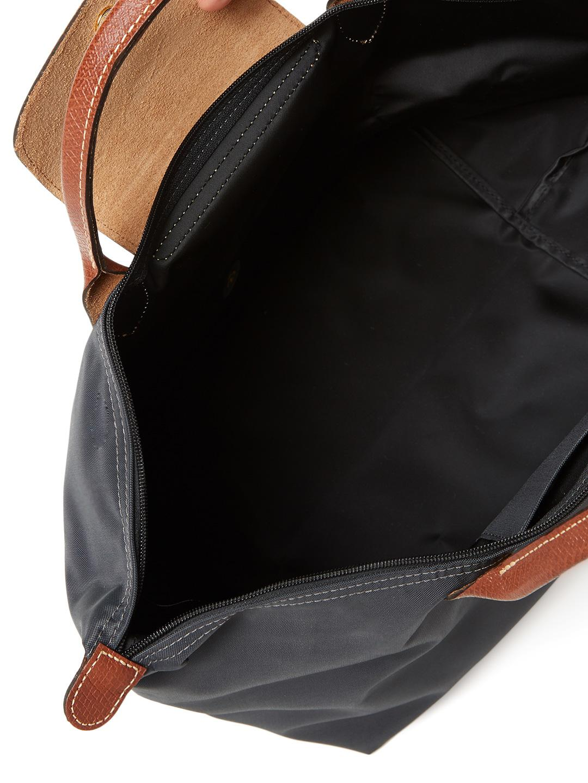 Longchamp Synthetic Le Pliage Nylon Medium Top Handle in Gun Metal (Black)