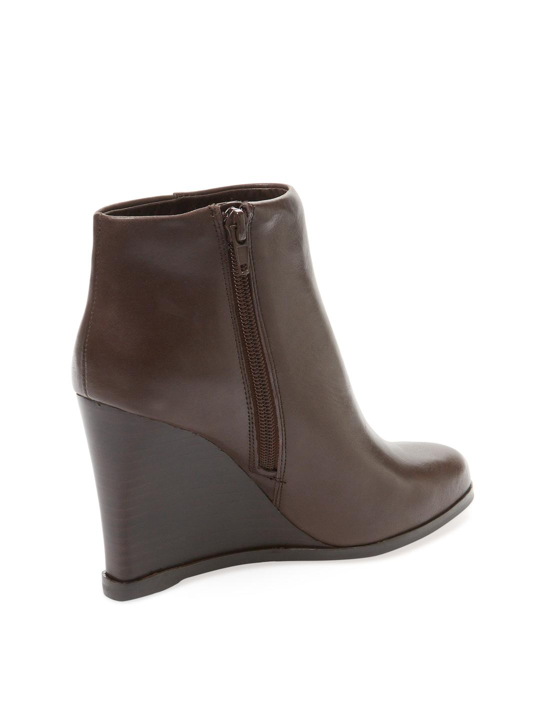 Vince Camuto Gemina Leather Wedge Bootie in Brown