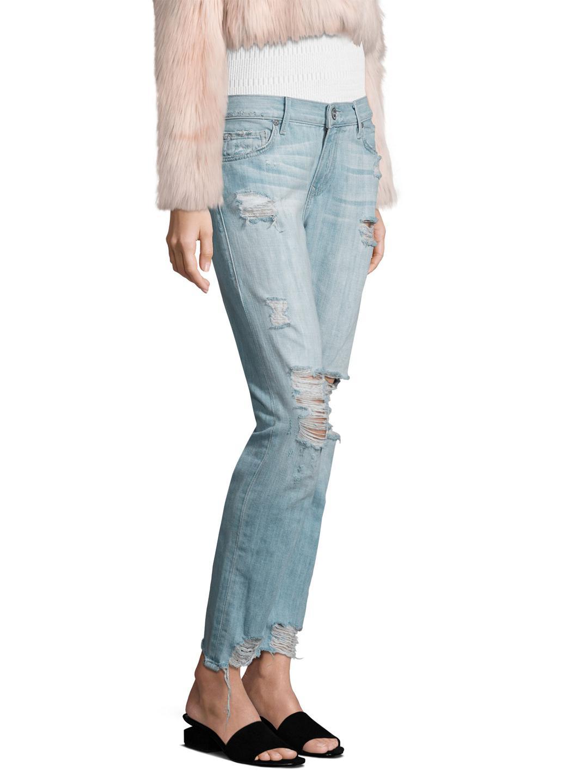True Religion Denim Cameron Boyfriend Jeans in Light Blue (Blue)