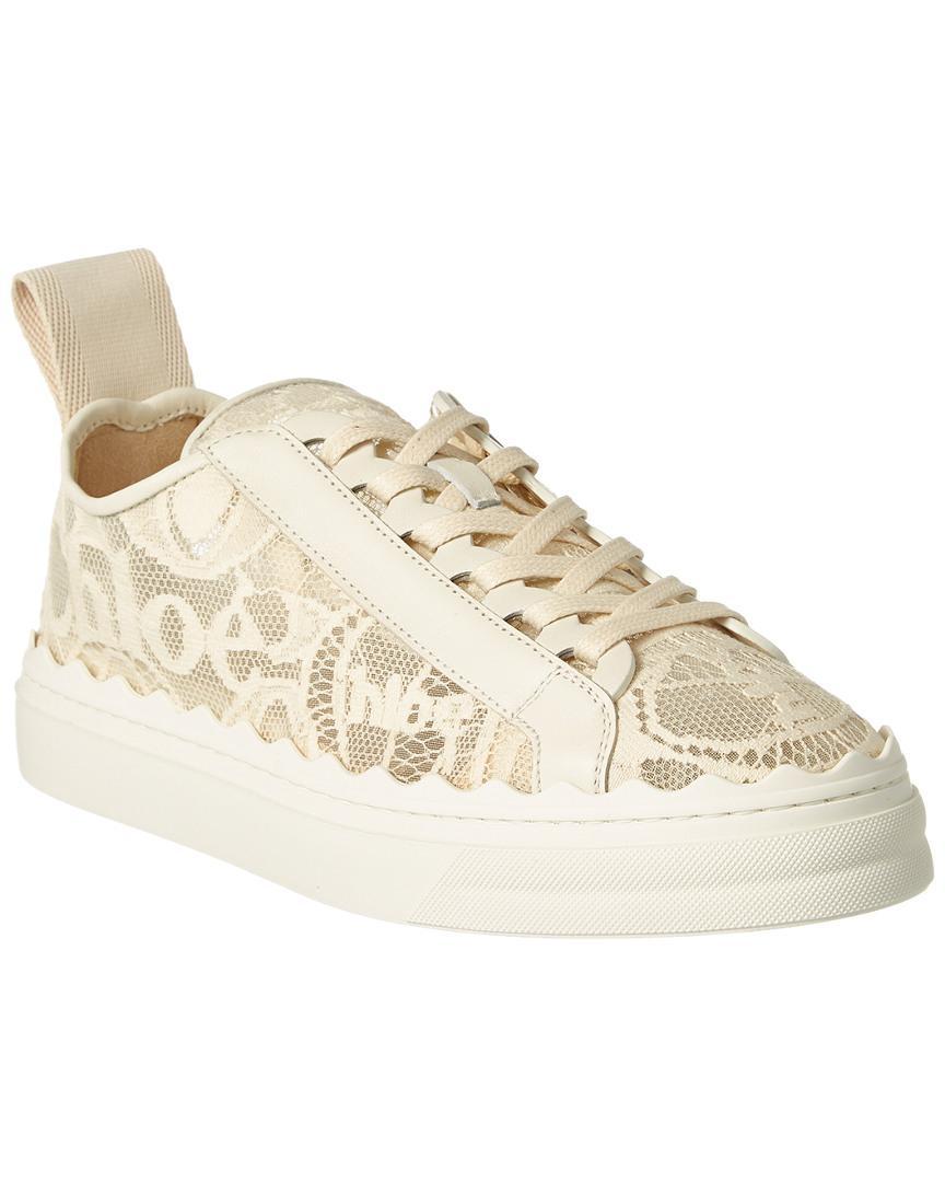 Chloé Lauren Lace Sneaker in White - Lyst
