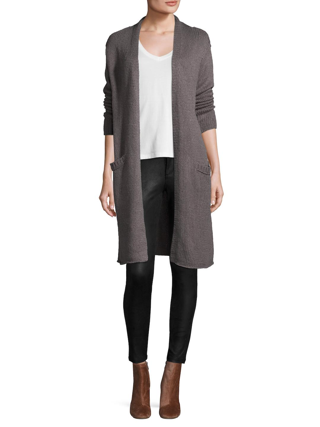 Velvet by graham & spencer Wool-blend Duster Cardigan in Brown | Lyst