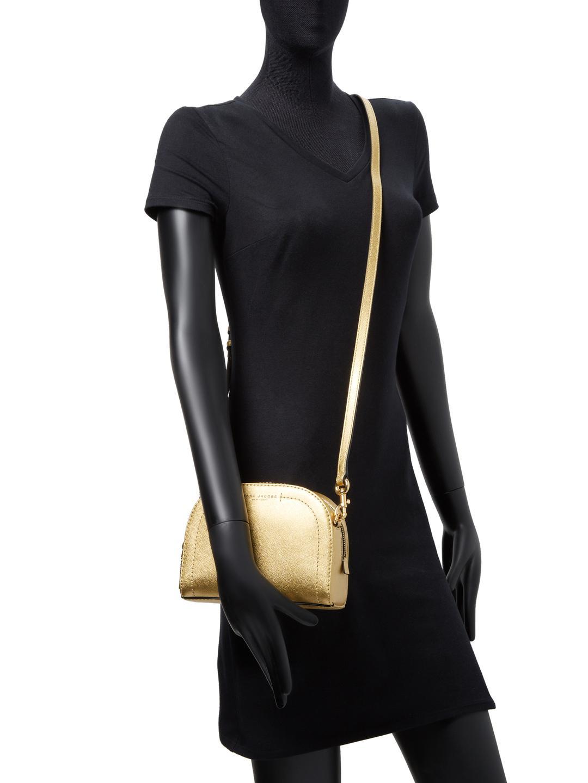 Marc Jacobs Leather Playback Metallic Crossbody Bag
