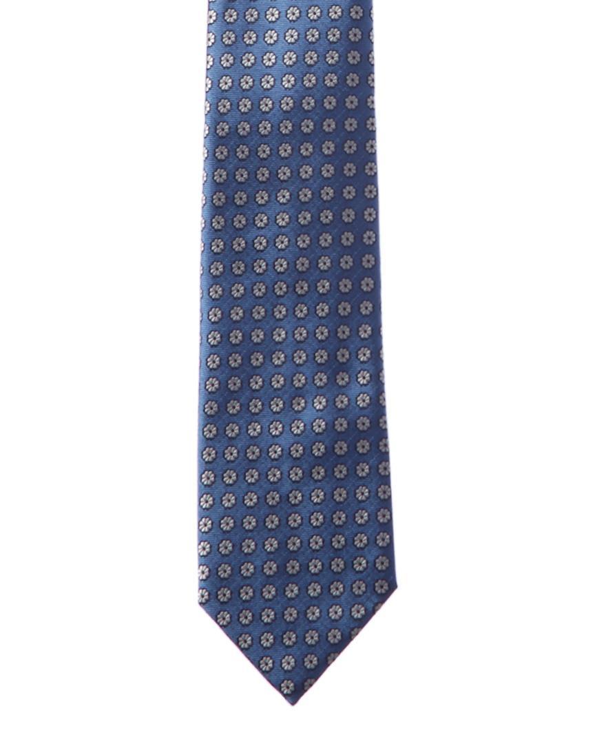 734245e2 Lyst - Ermenegildo Zegna Ermenegildo Blue & White Floral Silk Tie in ...