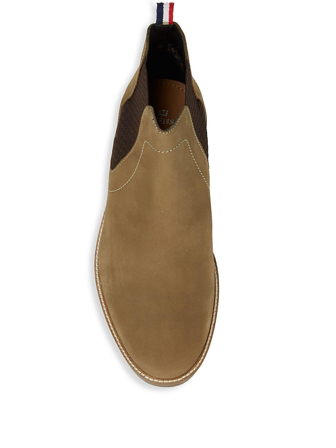 Ben Sherman Gabe Leather Chelsea Boots in Taupe (Brown)