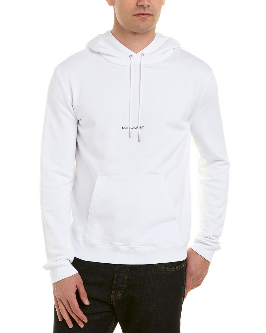 46403d3eb Saint Laurent - White Hoodie for Men - Lyst. View fullscreen