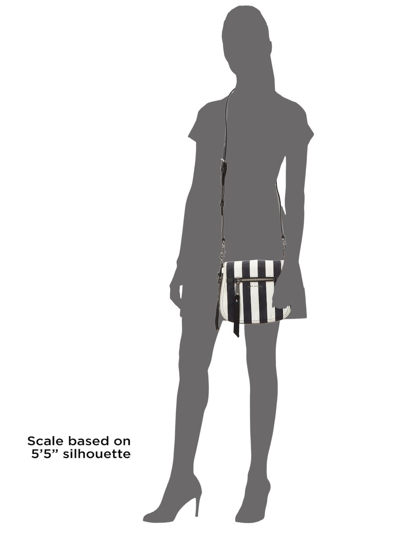 Marc Jacobs Synthetic Stripe Saddle Crossbody