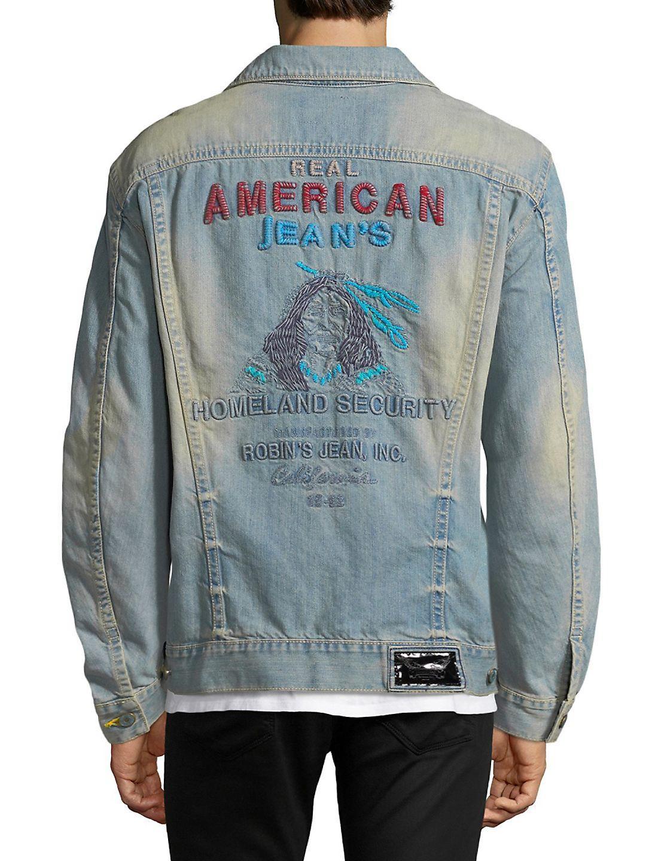 Robin's Jean Light Washed Denim Jacket in 3 d Light (Blue) for Men