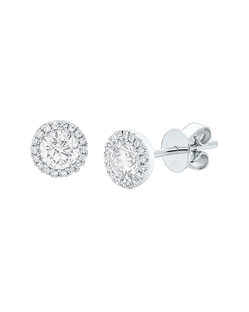 Diana M. Jewels . Fine Jewelry 14k 0.90 Ct. Tw. Diamond Studs in Metallic