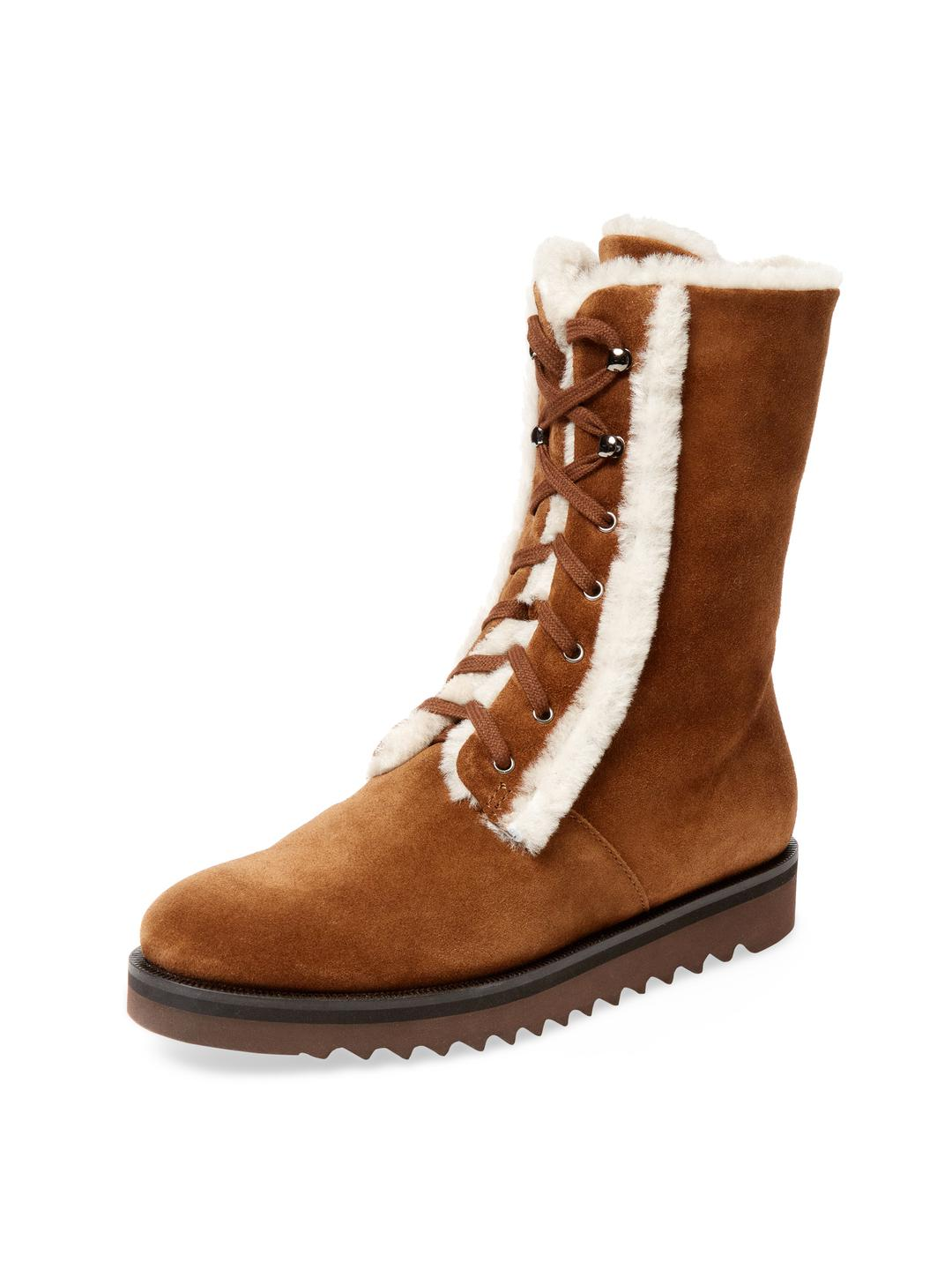 5c5ce3ace54d Lyst - Aquatalia Payton Suede Winter Boot in Brown