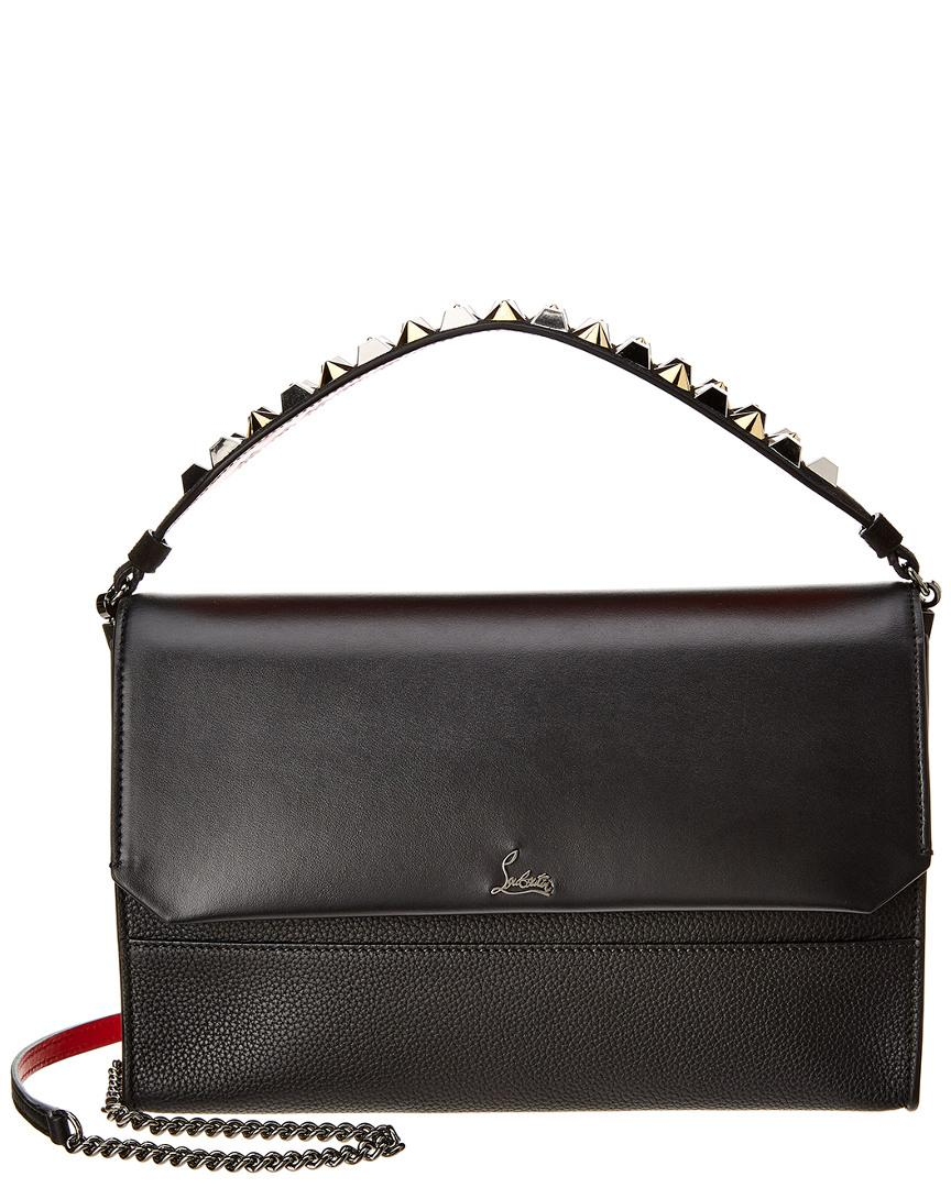 dd8147ee1e86 Lyst - Christian Louboutin Loubiblues Leather Shoulder Bag in Black