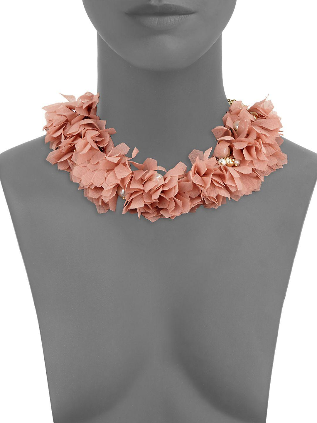 Natasha Couture Faux Pearl Statement Necklace