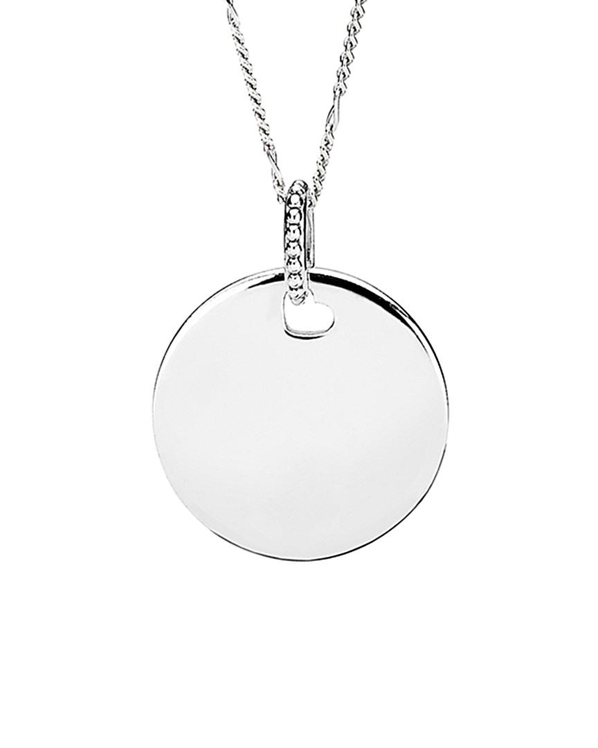 Pandora Silver Logo Pendant Necklace In Metallic Lyst