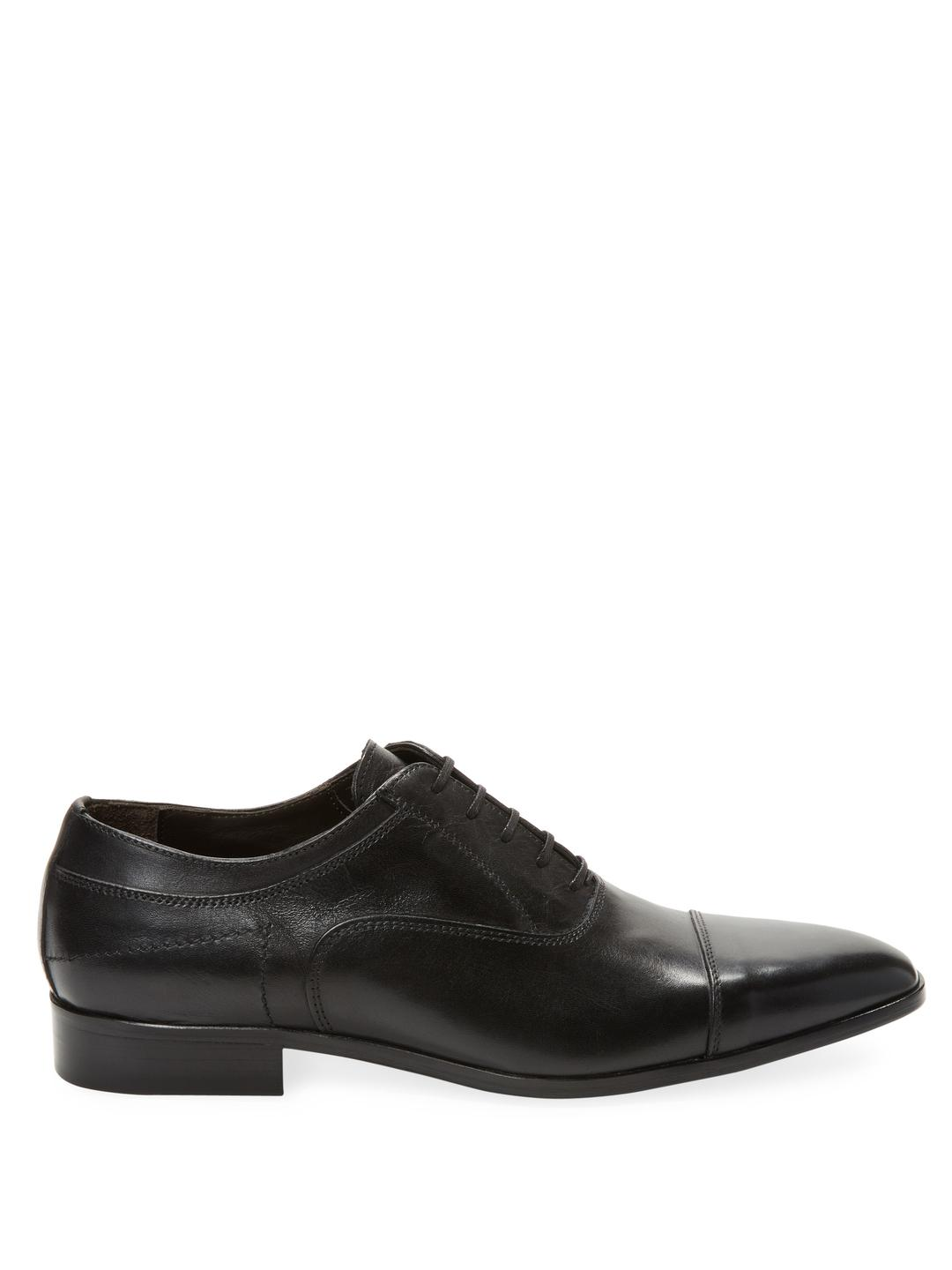 Wall + Water Leather Captoe Oxford in Black for Men