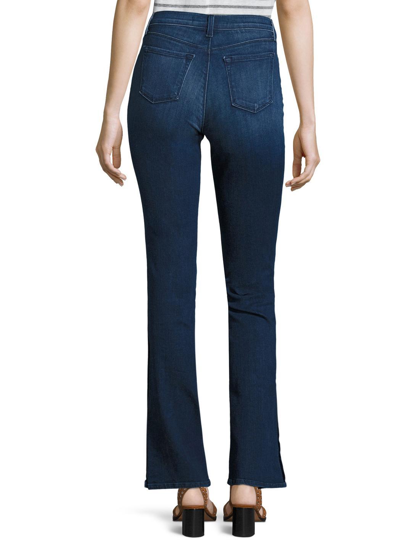 J Brand Denim 811 Mid Rise Skinny Leg Jeans in Dark Blue (Blue)