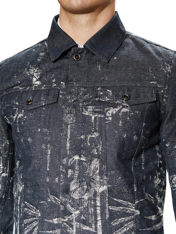 Diesel Black Gold Jared Jacquard Denim Jacket In Blue For